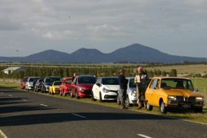 Regrouping behind the You Yangs - 28 June '15 drive day